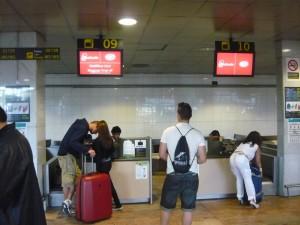 Фотография: Стойки сдачи багажа airberlin аэропорт Барселона.