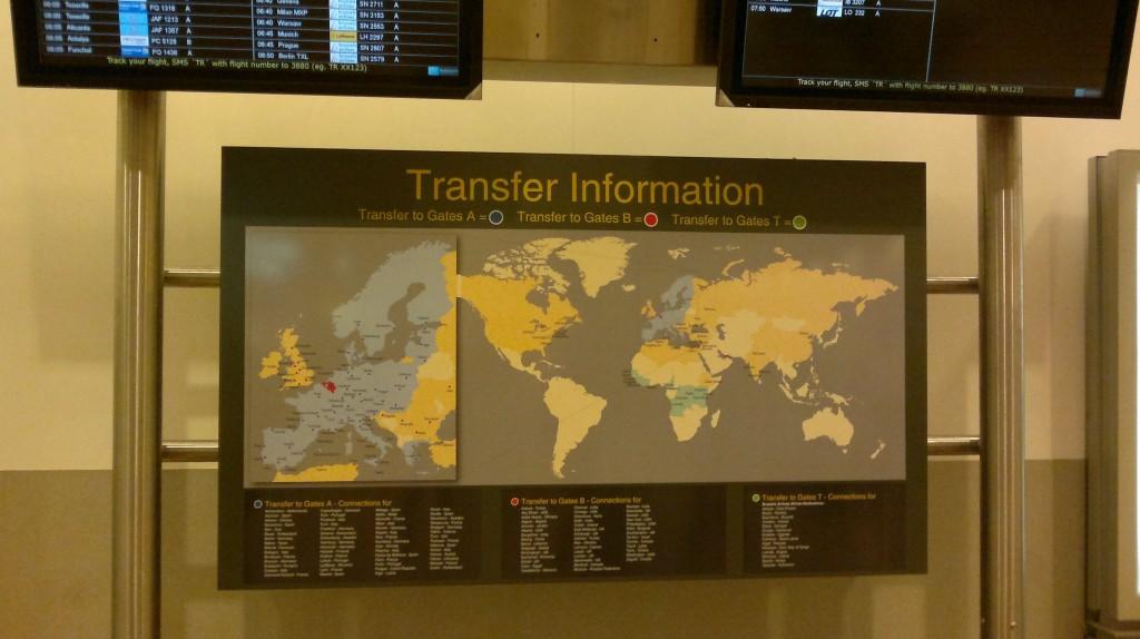 Карта для трансферных пассажиров аэропорт Брюссель (BRU)
