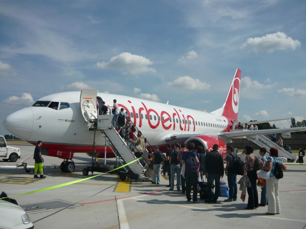 Самолет авиакомпании AirBerlin.
