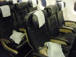 Фотография: Салон бизнес-класса Club Europe авиакомпании British Airways на рейсе Санкт-Петербург - Лондон www.air-agent.ru