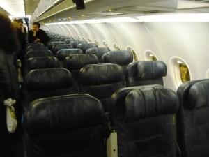 Салон экономического класс Euro Traveller авиакомпании British Airways на рейсе Санкт-Петербург - Лондон www.air-agent.ru