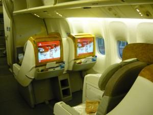 Фотография: Бизнес класс авиакомпании Эмирейтс самолет Boeig 777-200  маршрут Санкт-Петербург - Дубай www.air-agent.ru