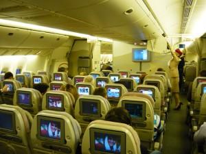 Фотография: Эконом класс самолет Боинг 777-200 авиакомпании Эмирейтс перелет СПб-Дубай www.air-agent.ru
