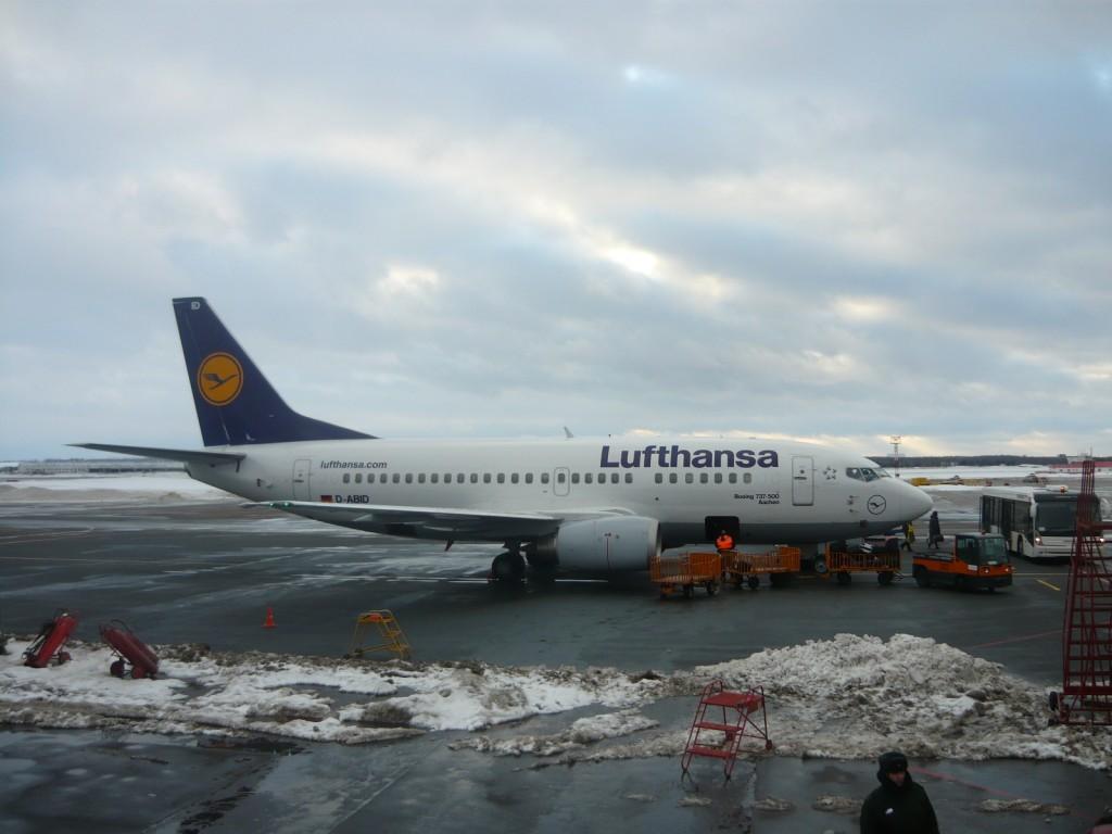 Самолет авиакомпании Lufthansa в Пулково b737