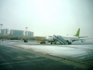 Самолет авиакомпании AirBaltic