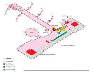 Схема международного аэропорта Рига