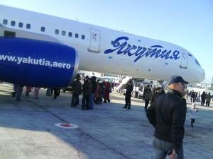 Фотография: Самолет авиакомпании Якутия www.air-agent.ru