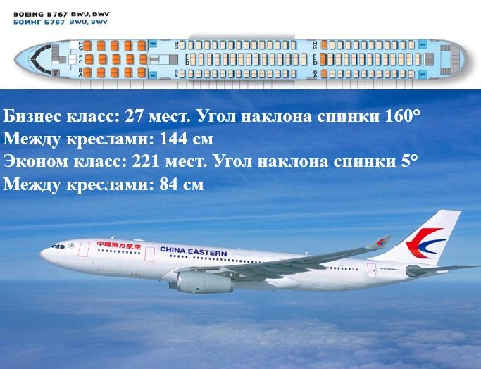 самолет боинг 767 Китайские восточные авиалинии